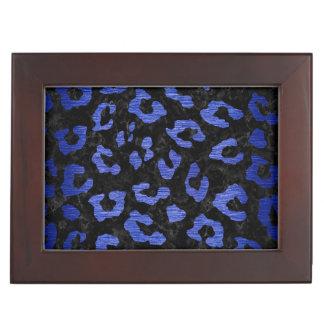 SKIN5 BLACK MARBLE & BLUE BRUSHED METAL (R) KEEPSAKE BOX