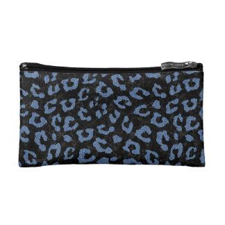 SKIN5 BLACK MARBLE & BLUE DENIM (R) COSMETIC BAGS