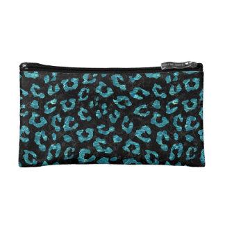 SKIN5 BLACK MARBLE & BLUE-GREEN WATER (R) COSMETIC BAG