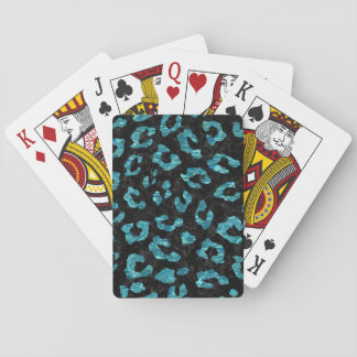 SKIN5 BLACK MARBLE & BLUE-GREEN WATER (R) PLAYING CARDS