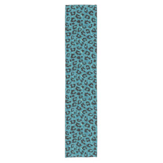SKIN5 BLACK MARBLE & BLUE-GREEN WATER SHORT TABLE RUNNER