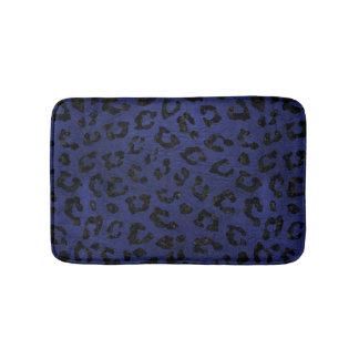 SKIN5 BLACK MARBLE & BLUE LEATHER BATH MAT