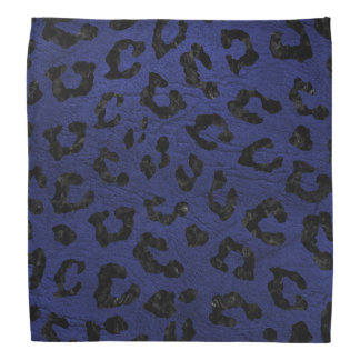 SKIN5 BLACK MARBLE & BLUE LEATHER DO-RAGS