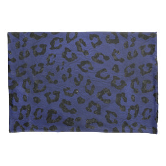 SKIN5 BLACK MARBLE & BLUE LEATHER PILLOWCASE