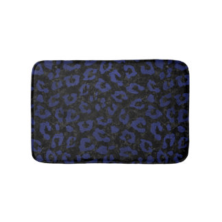 SKIN5 BLACK MARBLE & BLUE LEATHER (R) BATH MAT