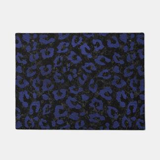SKIN5 BLACK MARBLE & BLUE LEATHER (R) DOORMAT
