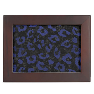 SKIN5 BLACK MARBLE & BLUE LEATHER (R) KEEPSAKE BOX