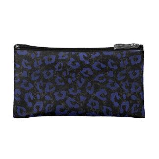 SKIN5 BLACK MARBLE & BLUE LEATHER (R) MAKEUP BAG