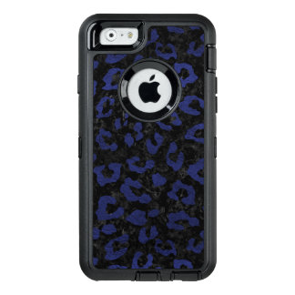 SKIN5 BLACK MARBLE & BLUE LEATHER (R) OtterBox DEFENDER iPhone CASE