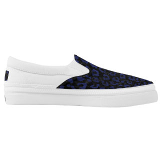 SKIN5 BLACK MARBLE & BLUE LEATHER (R) Slip-On SHOES