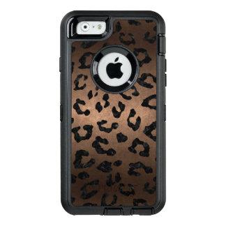 SKIN5 BLACK MARBLE & BRONZE METAL OtterBox DEFENDER iPhone CASE