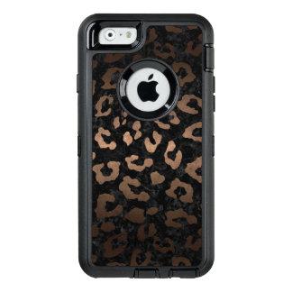 SKIN5 BLACK MARBLE & BRONZE METAL (R) OtterBox DEFENDER iPhone CASE