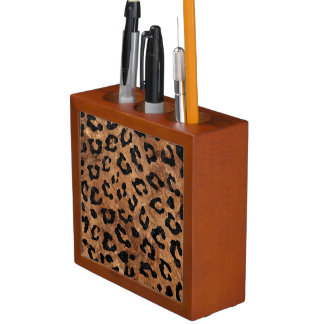 SKIN5 BLACK MARBLE & BROWN STONE DESK ORGANISER