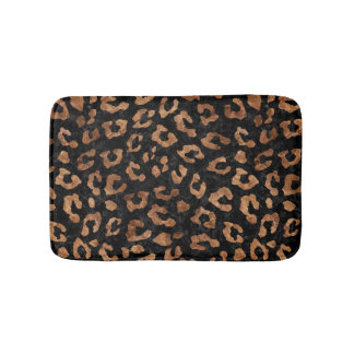 SKIN5 BLACK MARBLE & BROWN STONE (R) BATH MAT