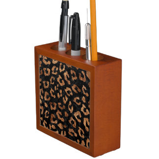 SKIN5 BLACK MARBLE & BROWN STONE (R) DESK ORGANISER