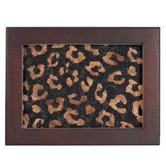 SKIN5 BLACK MARBLE & BROWN STONE (R) KEEPSAKE BOX