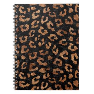 SKIN5 BLACK MARBLE & BROWN STONE (R) SPIRAL NOTEBOOK