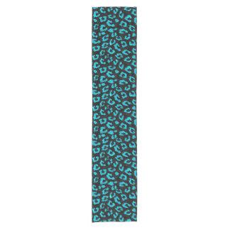 SKIN5 BLACK MARBLE & TURQUOISE MARBLE (R) SHORT TABLE RUNNER