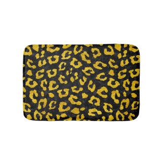 SKIN5 BLACK MARBLE & YELLOW MARBLE (R) BATH MAT
