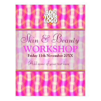 Skin & Beauty Business Workshop Invitations Postcard