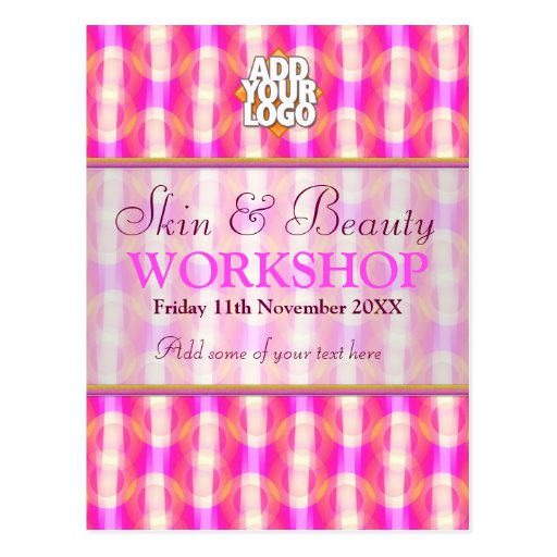 Skin & Beauty Business Workshop Invitations Postcards