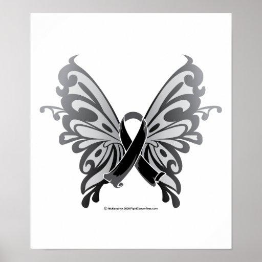 Skin Cancer Butterfly Ribbon | Zazzle