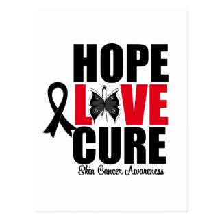 skin cancer black ribbon postcards postcard template designs zazzle. Black Bedroom Furniture Sets. Home Design Ideas
