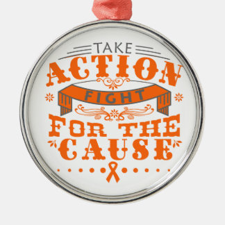 Skin Cancer Take Action Fight For The Cause Christmas Tree Ornament
