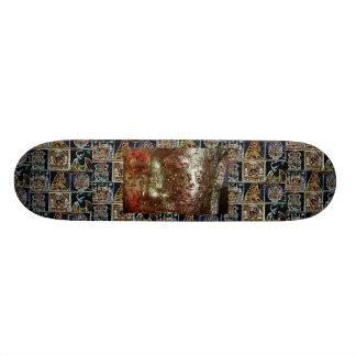 skin gold buda custom skateboard