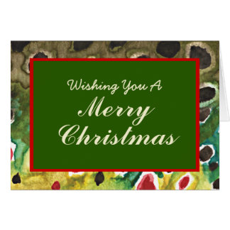 Skin of Brown Trout Fishing Christmas Card