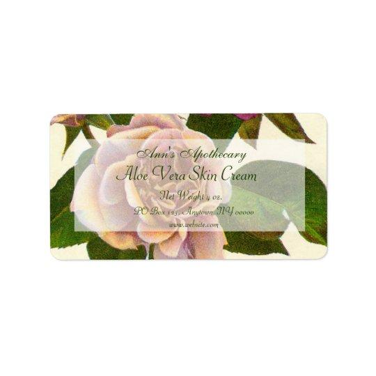 Skin Products or Crafts Label - Rose Address Label