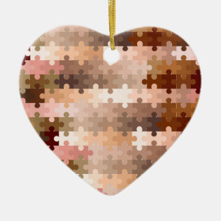 Skin Tone Jigsaw Pieces Ceramic Ornament