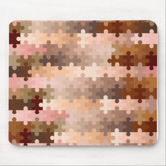 Skin Tone Jigsaw Pieces Mouse Pad