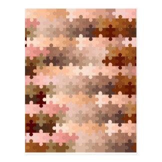 Skin Tone Jigsaw Pieces Postcard