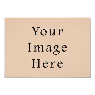 Skin Tone Sand Neutral Color Trend Blank Template 9 Cm X 13 Cm Invitation Card