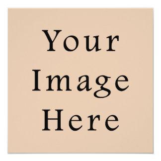 Skin Tone Sand Neutral Color Trend Blank Template 13 Cm X 13 Cm Square Invitation Card