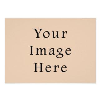 Skin Tone Sand Neutral Color Trend Blank Template 13 Cm X 18 Cm Invitation Card