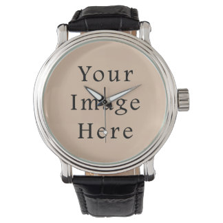 Skin Tone Sand Neutral Color Trend Blank Template Wristwatch