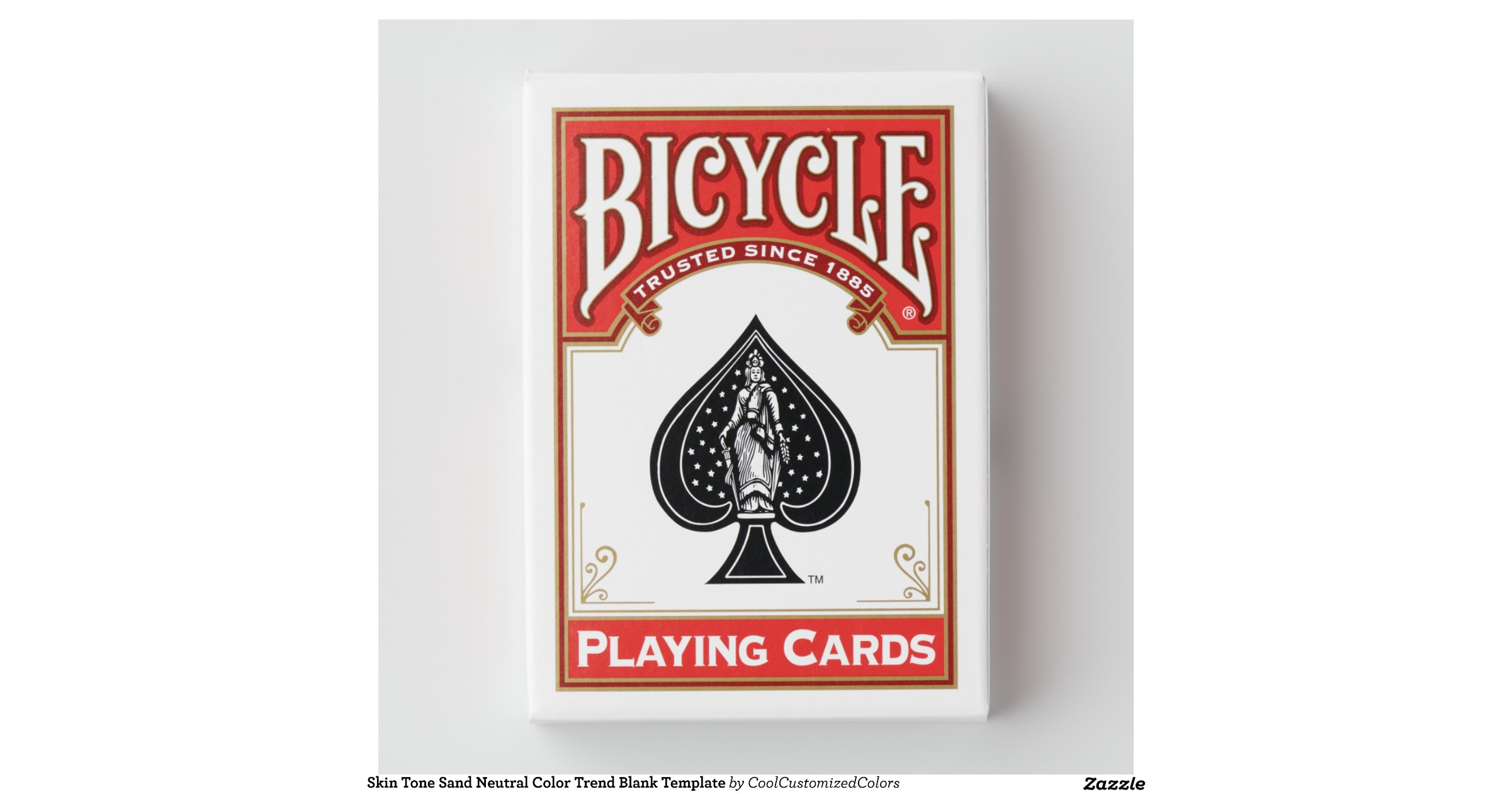 skin tone sand neutral colour trend blank template bicycle poker deck zazzle. Black Bedroom Furniture Sets. Home Design Ideas