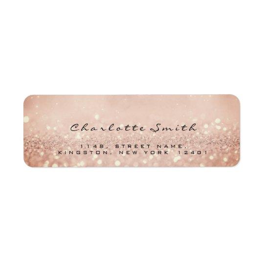 Skinn Pink Rose Glitter RSVP Return Address Labels
