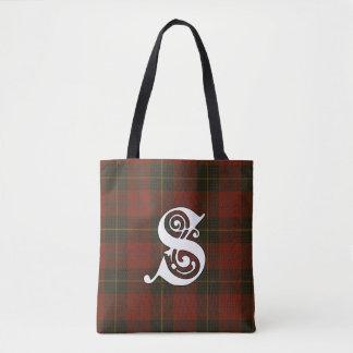 Skinner Clan Tartan Monogram Tote Bag