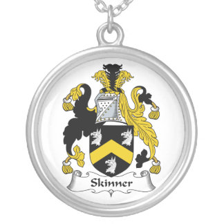 Skinner Family Crest Silver Plated Necklace