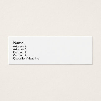 Skinny, 7.6cm x 2.5cm, mini business card