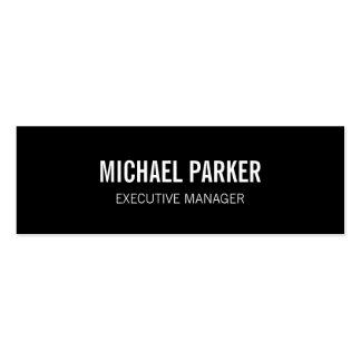 Skinny Black White Bold Text Stylish Professional Pack Of Skinny Business Cards
