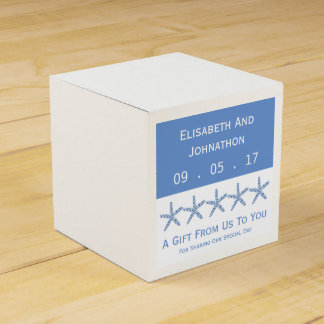 Skinny Blue Sea Star Wedding Favour Box