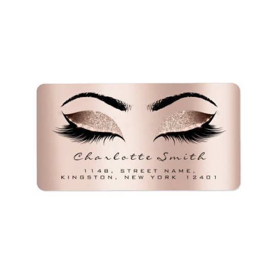 Skinny Blush Makeup Lashes Return Address Labels