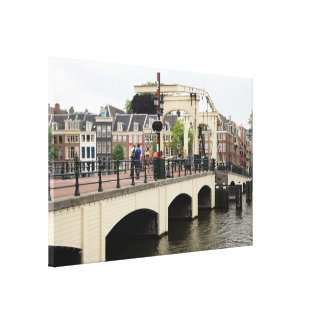 Skinny Bridge, Amsterdam, Holland Canvas Print