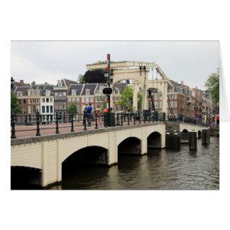 Skinny Bridge, Amsterdam, Holland Card