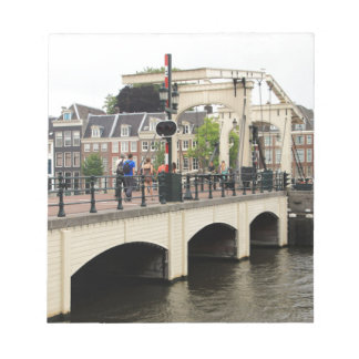 Skinny Bridge, Amsterdam, Holland Notepad