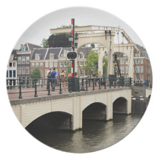 Skinny Bridge, Amsterdam, Holland Plate